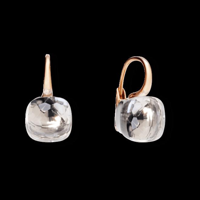 Ohrring Pomellato Nudo aus 750 Roségold und 750 Weißgold mit 2 Topasen