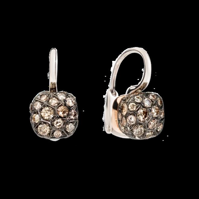 Ohrring Pomellato Nudo aus 750 Weißgold und 750 Roségold mit 78 Brillanten (2 x 0,85 Karat) bei Brogle