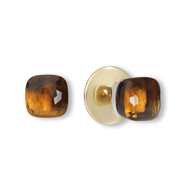 Ohrstecker Pomellato Nudo aus 750 Roségold und 750 Weißgold mit 2 Citrinen