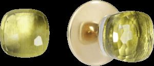 Ohrstecker Pomellato Nudo aus 750 Roségold und 750 Weißgold mit 2 Zitronenquarzen