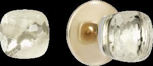 Ohrstecker Pomellato Nudo aus 750 Roségold und 750 Weißgold mit 2 Topasen
