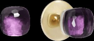 Ohrstecker Pomellato Nudo aus 750 Roségold und 750 Weißgold mit 2 Amethysten