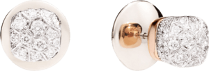 Ohrstecker Pomellato Nudo aus 750 Weißgold und 750 Roségold mit mehreren Brillanten (2 x 0,85 Karat)