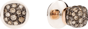 Ohrstecker Pomellato Nudo aus 750 Roségold und 750 Weißgold mit mehreren Brillanten (2 x 0,85 Karat)