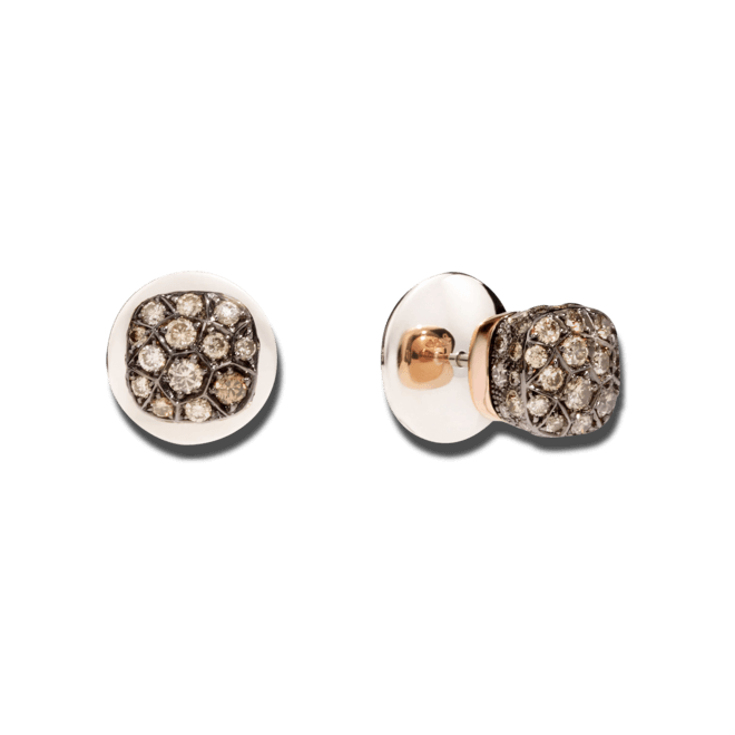 Ohrstecker Pomellato Nudo aus 750 Roségold und 750 Weißgold mit mehreren Brillanten (2 x 0,85 Karat) bei Brogle