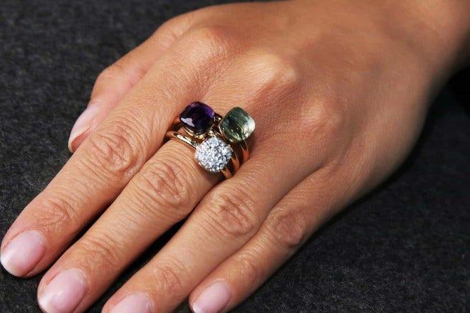 Ring Pomellato Nudo Petit Amethyst aus 750 Roségold und 750 Weißgold mit 1 Amethyst bei Brogle