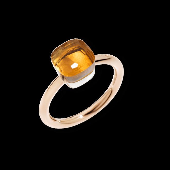 Ring Pomellato Nudo Petit Citrin aus 750 Roségold und 750 Weißgold mit 1 Citrin