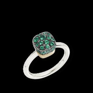 Pomellato Ring Nudo Petit Emeralds PAB5010-O6000-000SM