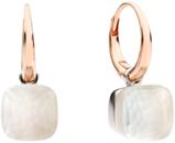 Ohrring Pomellato Nudo Petit Gelè aus 750 Roségold und 750 Weißgold mit mehreren Edelsteinen
