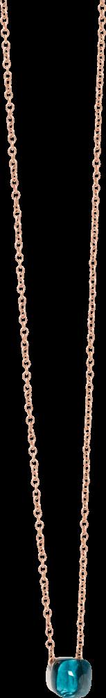 Halskette mit Anhänger Pomellato Nudo Petit London Topas aus 750 Roségold und 750 Weißgold mit 1 London Topas