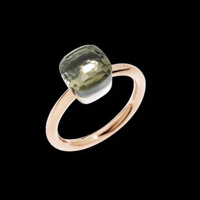Ring Pomellato Nudo Petit Prasiolith aus 750 Roségold und 750 Weißgold mit 1 Prasiolith