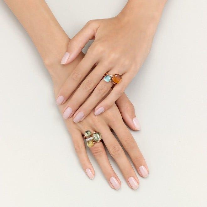 Ring Pomellato Nudo Petit Prasiolith aus 750 Roségold und 750 Weißgold mit 1 Prasiolith bei Brogle