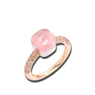 Pomellato Ring Nudo Petit Rosenquarz PAB7040-O6000-BRCQR