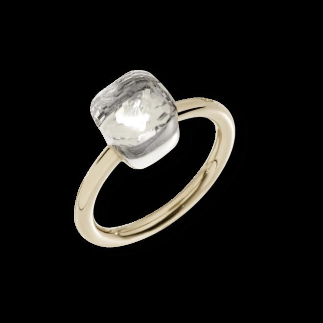 Ring Pomellato Nudo Petit Topas aus 750 Roségold und 750 Weißgold mit 1 Topas