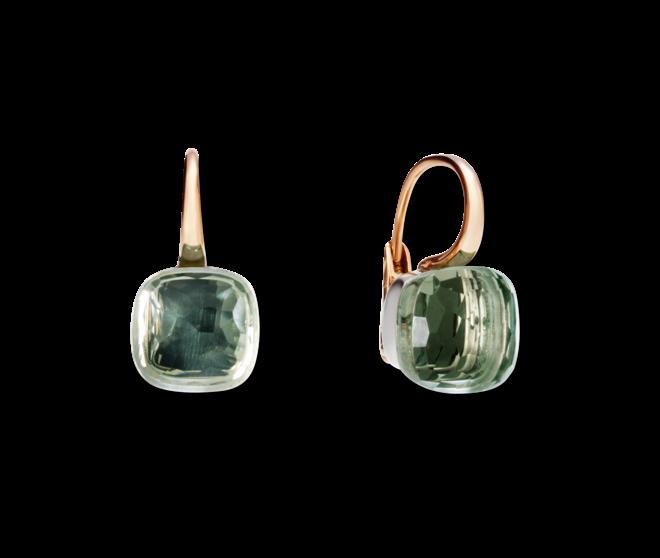 Ohrring Pomellato Nudo Prasiolith aus 750 Roségold und 750 Weißgold mit 2 Prasiolithen bei Brogle