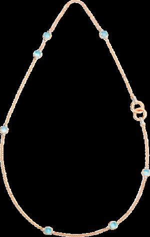 Halskette Pomellato Nudo Sky-Topas aus 750 Roségold und 750 Weißgold mit 7 Sky-Topasen