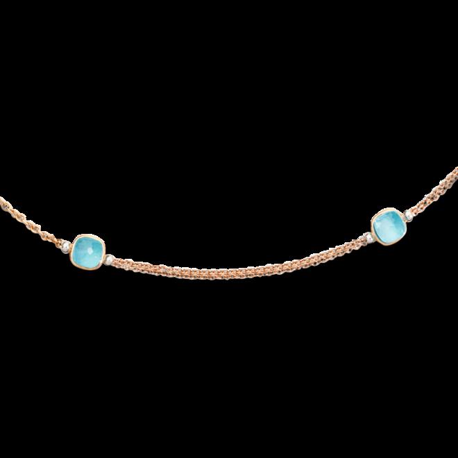 Halskette Pomellato Nudo Sky-Topas aus 750 Roségold und 750 Weißgold mit 7 Sky-Topasen bei Brogle