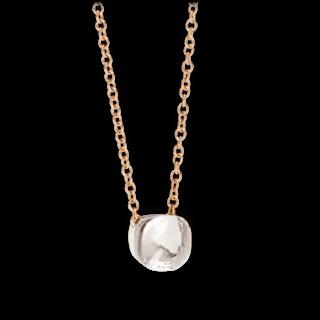 Pomellato Halskette mit Anhänger Nudo Topas F.B601/O6/TB/46