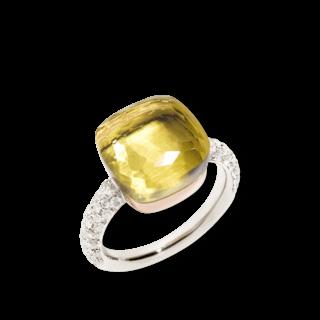 Pomellato Ring Nudo Zitronenquarz mit Brillanten PAB4010-O6000-DB0QL