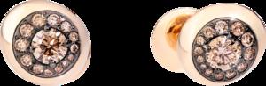 Ohrstecker Pomellato Nuvola aus 750 Roségold mit 28 Diamanten (2 x 0,735 Karat)