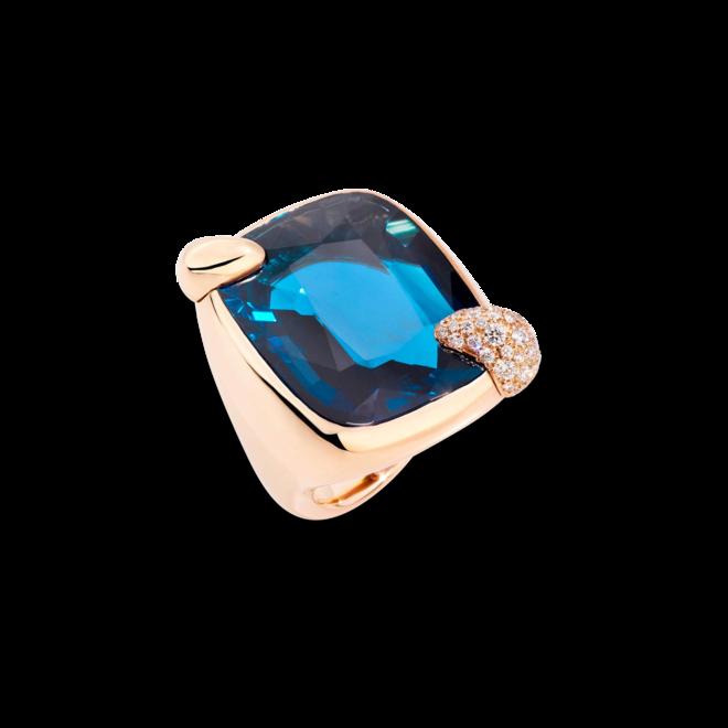 Ring Pomellato Ritratto aus 750 Roségold mit 1 London Topas und mehreren Diamanten (0,65 Karat) bei Brogle
