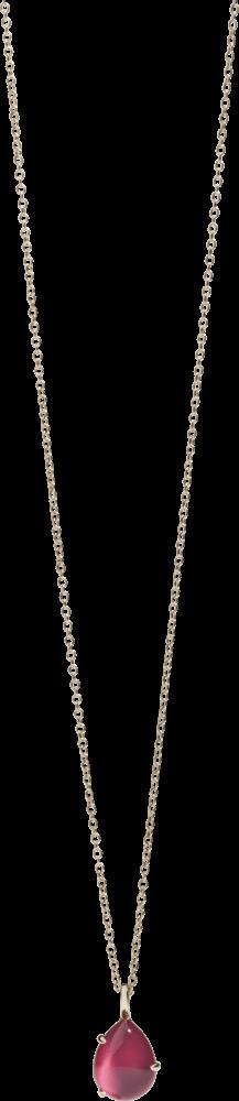 Halskette mit Anhänger Pomellato Rouge Passion aus 375 Roségold mit Rubin