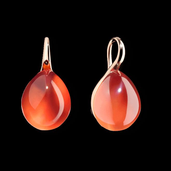Ohrring Pomellato Rouge Passion aus 375 Roségold mit 2 Saphiren und 2 Perlmutt