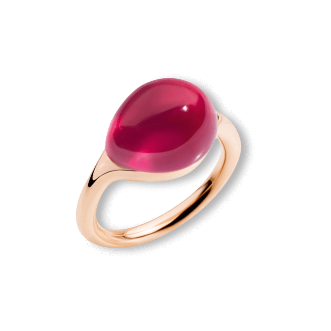 Ring Pomellato Rouge Passion aus 375 Roségold mit 1 Rubin