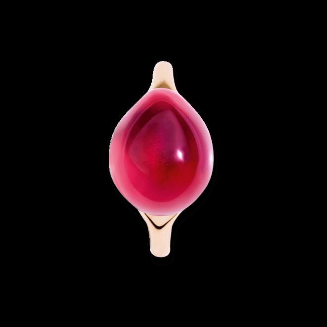 Ring Pomellato Rouge Passion aus 375 Roségold mit 1 Rubin