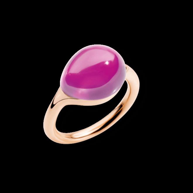 Ring Pomellato Rouge Passion aus 375 Roségold mit 1 Saphir