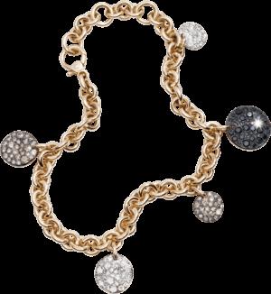 Armband mit Anhänger Pomellato Sabbia aus 750 Roségold mit mehreren Brillanten (1,81 Karat)
