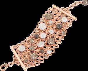 Armband Pomellato Sabbia aus 750 Roségold mit 539 Brillanten (7,9 Karat) Größe S