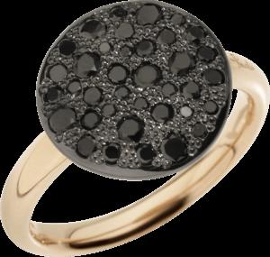 Ring Pomellato Sabbia groß aus 750 Roségold mit mehreren Brillanten (0,6 Karat)