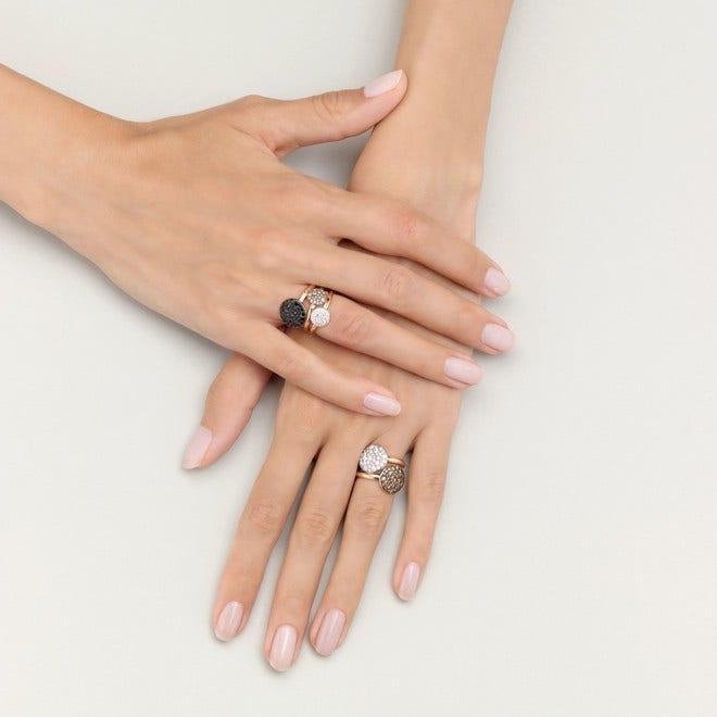Ring Pomellato Sabbia groß aus 750 Roségold mit mehreren Brillanten (0,6 Karat) bei Brogle