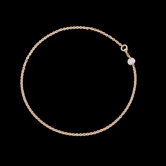 Halskette Pomellato Sabbia aus 750 Roségold mit mehreren Brillanten (0,2 Karat)