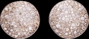 Ohrclip Pomellato Sabbia aus 750 Roségold mit mehreren Diamanten