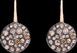 Ohrhänger Pomellato Sabbia aus 750 Roségold mit mehreren Brillanten (2 x 0,195 Karat)