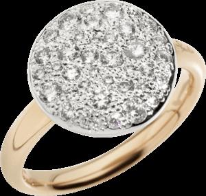 Ring Pomellato Sabbia aus 750 Roségold mit mehreren Brillanten (0,68 Karat)