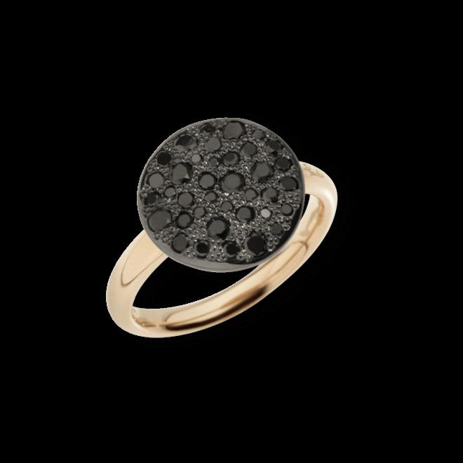 Ring Pomellato Sabbia aus 750 Roségold mit mehreren Brillanten (0,6 Karat)