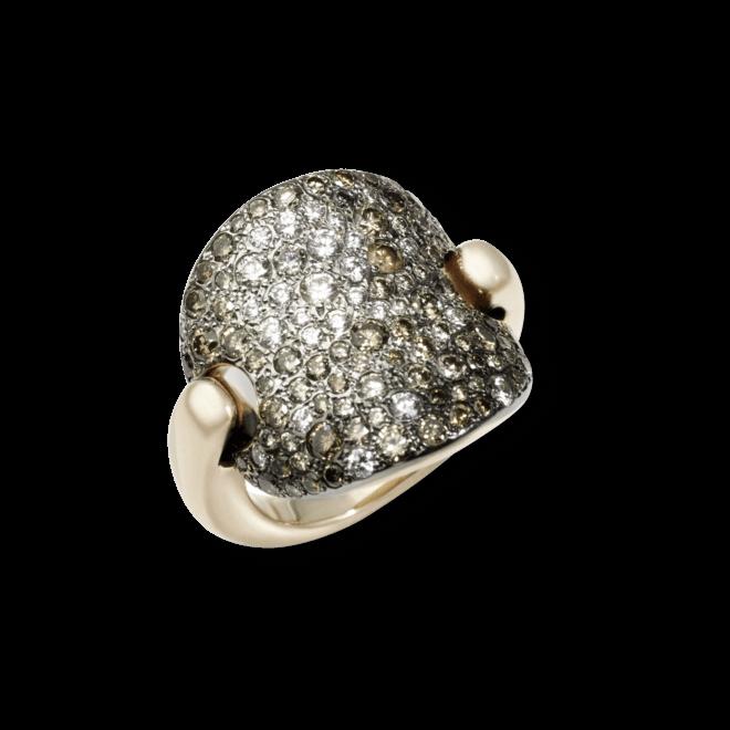 Ring Pomellato Sabbia aus 750 Roségold mit mehreren Diamanten (2,3 Karat)