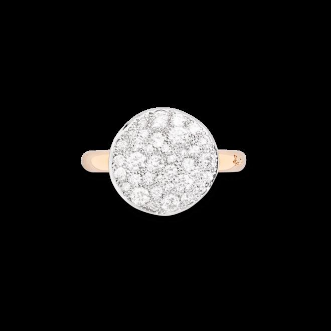 Ring Pomellato Sabbia aus 750 Roségold mit mehreren Brillanten (0,68 Karat) bei Brogle