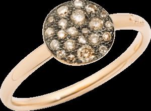 Ring Pomellato Sabbia aus 750 Roségold mit mehreren Brillanten (0,24 Karat)
