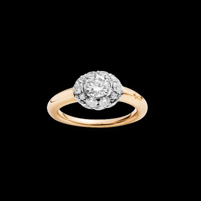 Ring Pomellato Tabou aus 750 Roségold und 925 Sterlingsilber mit mehreren Diamanten