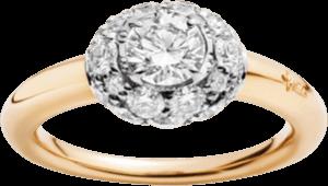 Ring Pomellato Tabou aus 750 Roségold und 925 Sterlingsilber mit mehreren Diamanten (1,65 Karat)
