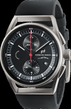 Herrenuhr Porsche Design 911 Timeless Machine Limited Edition mit schwarzem Zifferblatt und Rindsleder-Armband