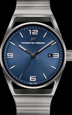 Herrenuhr Porsche Design 1919 Datetimer Eternity mit blauem Zifferblatt und Titanarmband