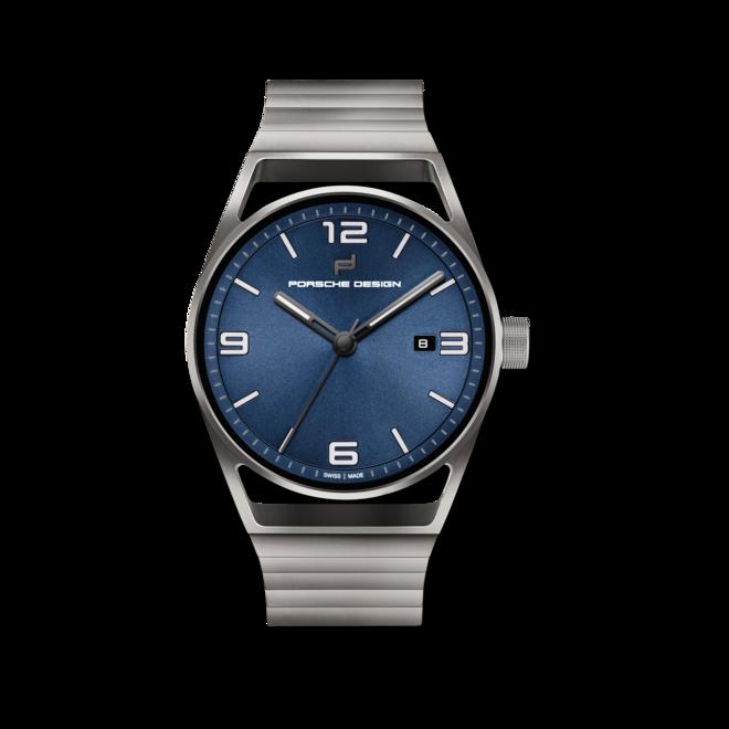 Herrenuhr Porsche Design 1919 Datetimer Eternity mit blauem Zifferblatt und Titanarmband bei Brogle
