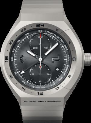 Herrenuhr Porsche Design Monobloc Actuator GMT mit schwarzem Zifferblatt und Titanarmband