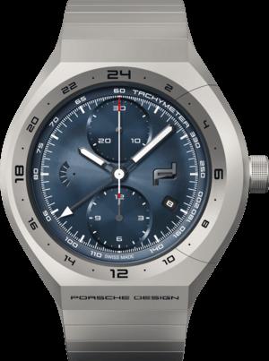 Herrenuhr Porsche Design Monobloc Actuator GMT mit blauem Zifferblatt und Titanarmband