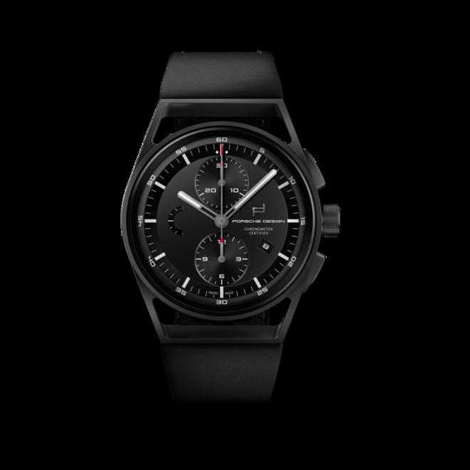 Herrenuhr Porsche Design Sport Chrono 42mm mit schwarzem Zifferblatt und Kalbsleder-Armband bei Brogle